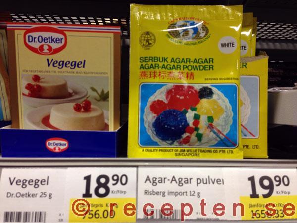 vegetarisk ersättning för gelatin