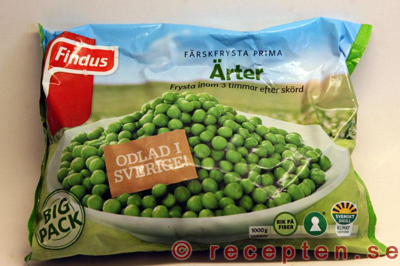 frysta gröna ärtor