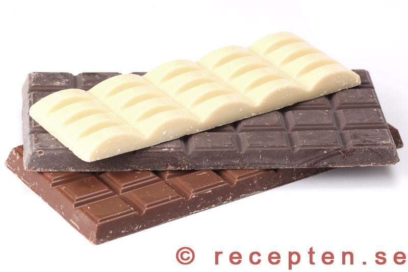 vad innehåller vit choklad