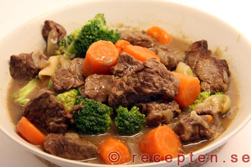 goda maträtter med kött
