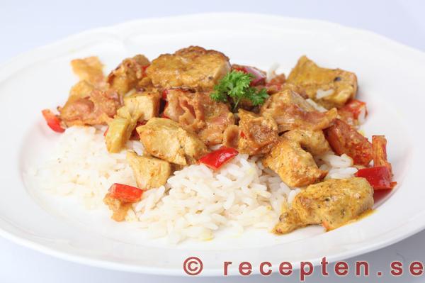 strimlad kyckling recept