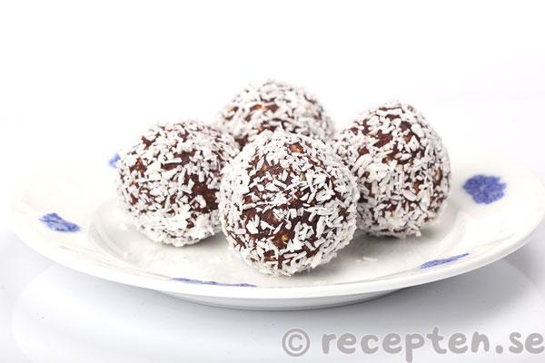 gluten och laktosfria chokladbollar