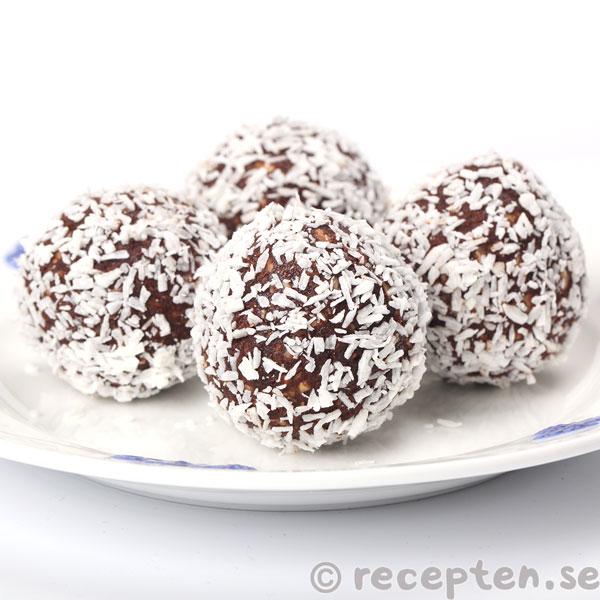 chokladbollar utan havregryn