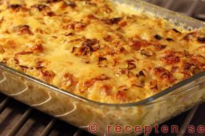 ... , chilisås och grädde blir gott tillsammans med ris i detta recept