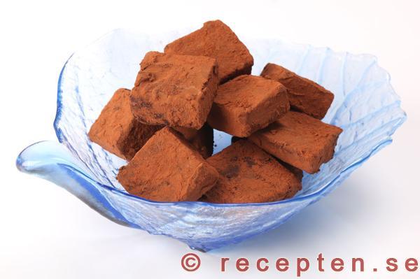 tryffel recept choklad