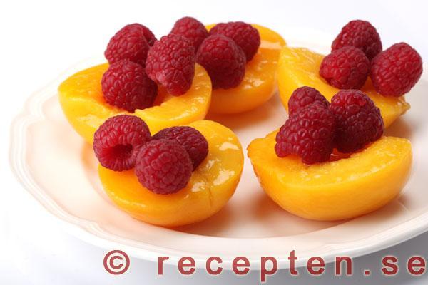 inlagda persikor recept