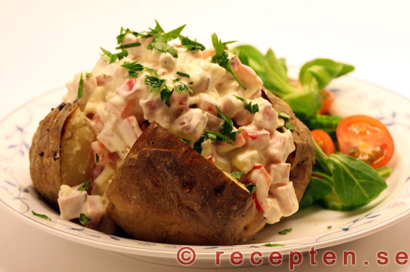 Bakad potatis fyllning