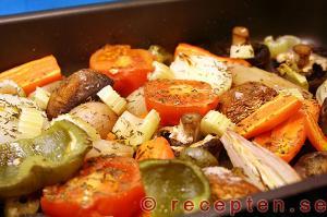 grönsaker i ugn