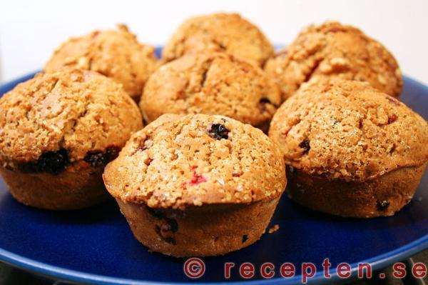 muffins med bär recept