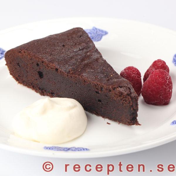 recept fransk chokladtårta