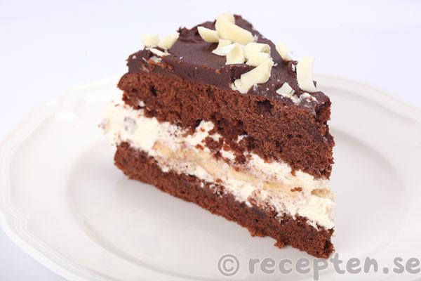 smörkräm choklad tårta