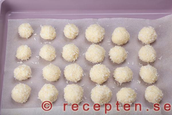 Vita snöbollar recept