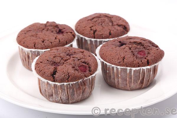 muffins med chokladbitar recept