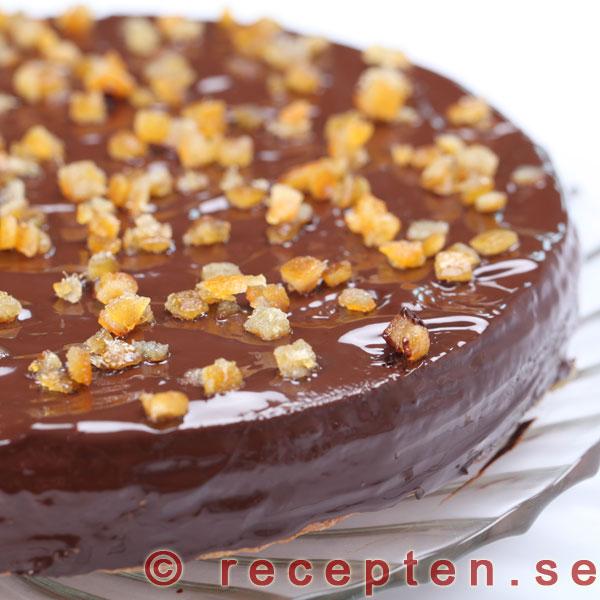 apelsin choklad tårta