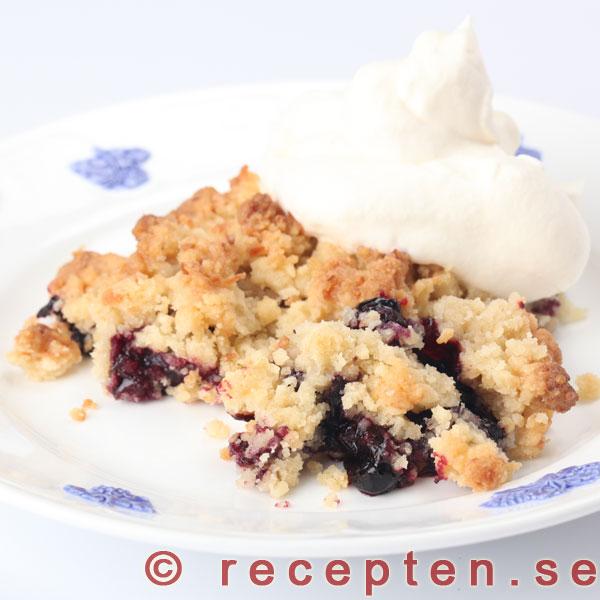 enkel blåbärspaj recept