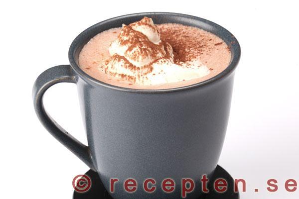 varm choklad vatten