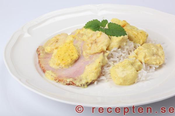 kassler i ugn curry