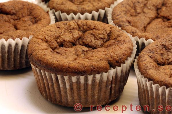chokladmuffins utan socker