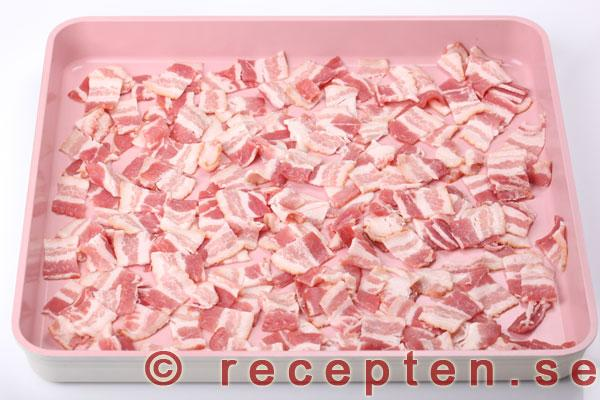 bacon i ugnsform