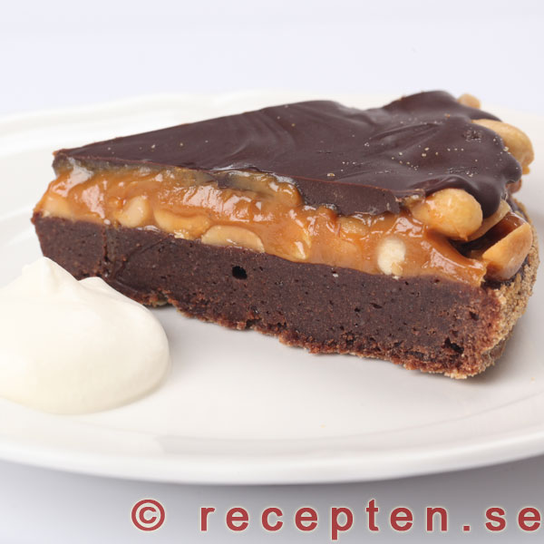 chokladkaka med jordnötssmör