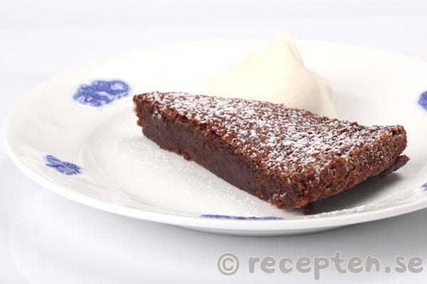 gluten och sockerfri kladdkaka