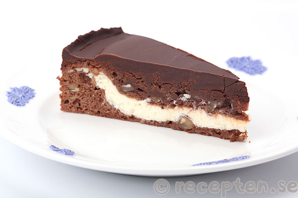 Nytt recept: Browniecheesecake med chokladganache