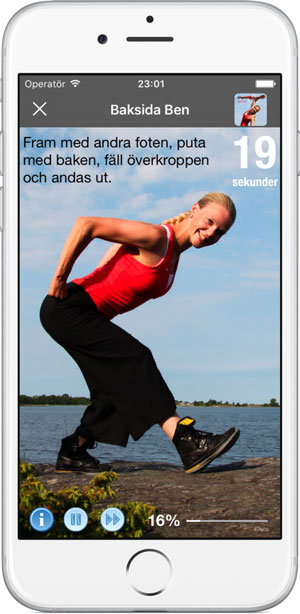 baksida ben stretch i appen Poworkout Stretch