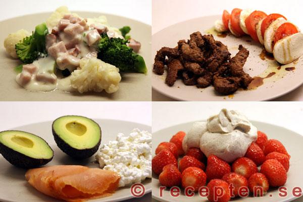 kostplan för att gå ner i vikt